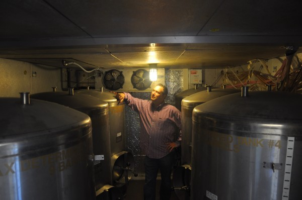 Chris Lively, owner of Ebenezer's Pub in Lovell and Lion's Pride in Brunswick, is getting ready to open his new brewery in Brunswick.