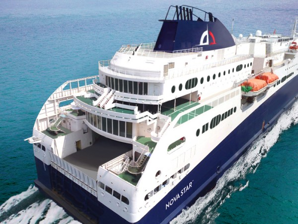 Quest Navigation, which has submitted a proposal to operate a new ferry service between Portland and Yarmouth, Nova Scotia, recently signed a long-term charter agreement to operate a 1,215-passenger ship, to be christened the Nova Star if the company's
