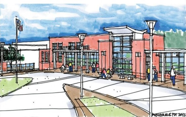 This rendering depicts plans for a $16.9 million expansion of Freeport High School, including a 31,000-square-foot addition, that was defeated at the polls last year.