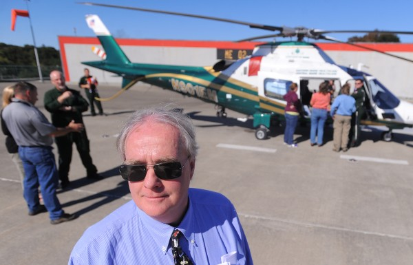 Thomas Judge, executive director of  LifeFlight of Maine, at the organization's 15th anniversary celebration Saturday at Eastern Maine Medical Center in Bangor.