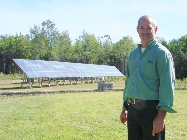 Jeffrey Marstaller, who runs Cozy Acres Greenhouses in North Yarmouth with wife Marianne, used a nearly $49,000 Rural Energy for America Program grant from the U.S. Department of Angriculture to install two 51-panel solar photovoltaic arrays and a geothermal system.