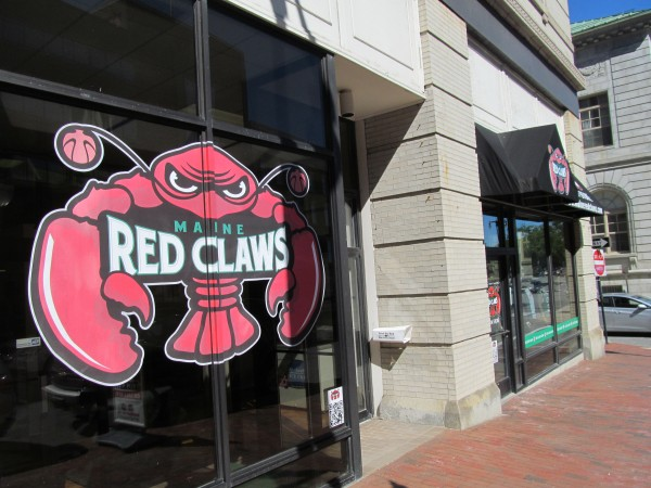 The Congress Street headquarters of the Maine Red Claws professional basketball team, a Development League affiliate of the NBA's Boston Celtics.