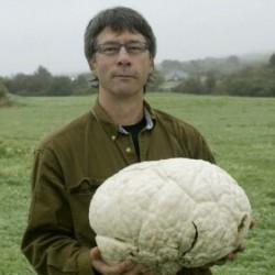 Greg Marley with a giant puffball.