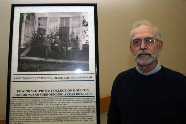 Houlton resident John Bushey discovered a number of old glass plate negatives buried in an attic on Court Street. He has had prints made from the negatives depicting scenes from 1879 to the 1920s from Houlton, Hodgdon and the surrounding communities. Several of the photos are on display at Houlton Regional Hospital.