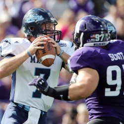 Collins, quarterbacks plagued by turnovers during UMaine's Cole Scrimmage