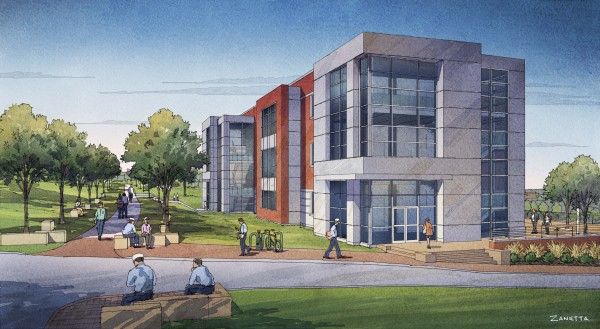 The ABS Center for Engineering, Science and Research, depicted in this illustration, will be the first new classroom facility built on the Castine campus of Maine Maritime Academy in 30 years.