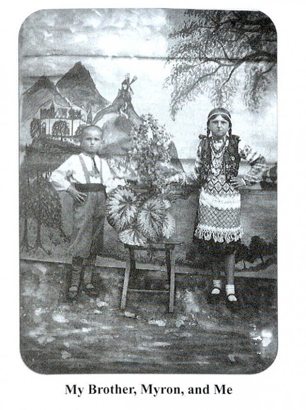 A photo of Mary &quotMaria&quot Dycio and her brother, Myron, when they were living in the Ukraine.