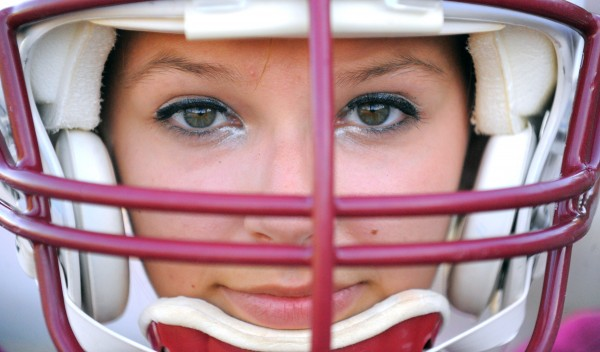Kaitlyn Cota is one of two girls on the Orono High School football team.