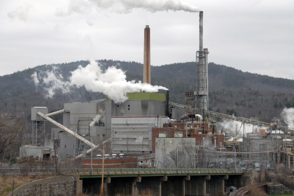 The NewPage paper mill in Rumford.