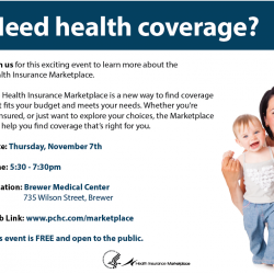 Health Insurance Marketplace Event at Brewer Medical Center