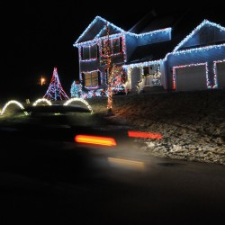 Deanna and Rick Hathaway have decorated their house at 21 Hillview Dr., located within Judson Heights off Lasalle Drive, with lights that turn on, fade in and out and shimmer in tune with Christmas music they self-broadcast at 88.1 FM.