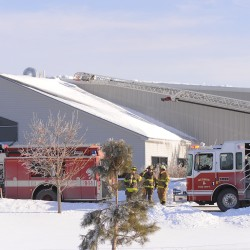 Firefighters from Hampden, Hermon and Bangor responded to a fire at the John W. Kennedy Company in Hampden on Tuesday.