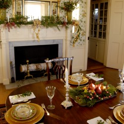 The dining room at Montpelier, site of the General Henry Knox Museum, was elegantly decorated for the Dec. 7-8 Holiday Open House sponsored by the Friends of Montpelier.