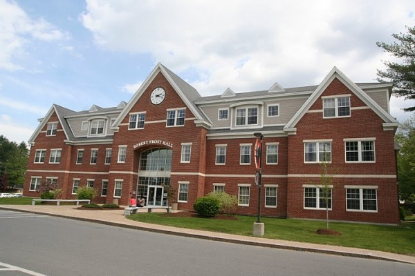 Robert Frost Hall on the main campus of Southern New Hampshire University in Manchester, N.H. The nonprofit college, which also has a campus in Brunswick, has grown its online division over the past five years to offer 180 programs and enroll 34,000 students.