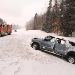This is one of  several accidents that happened on I-95 between Newport and Bangor on Saturday.  The wet snow made roadways slippery.