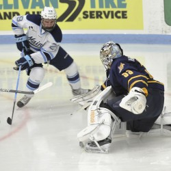 League points take precedence over Fenway experience for two Maine hockey sophomores