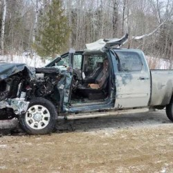 2 injured when car collides with plow truck head-on in New Vineyard