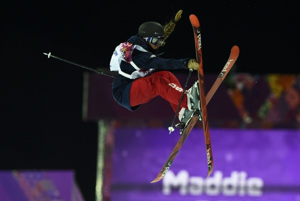 Maddie Bowman of the U.S. competes during the women's freestyle skiing halfpipe qualification round at the 2014 Sochi Winter Olympic Games in Rosa Khutor on Thursday. Bowman won gold in the event.