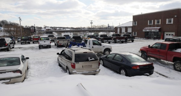 The My Maine Ride used car dealership as seen on Friday.