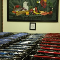 Artwork by SAD 53 students is on display at Bud's Shop 'n Save in Pittsfield.