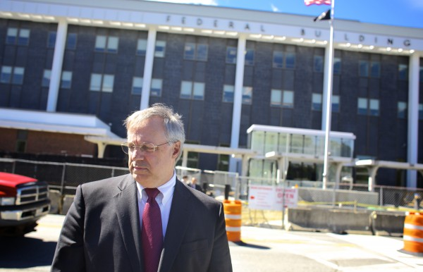 Robert Keach, the Bernstein Shur attorney that was appointed the trustee overseeing Montreal, Maine and Atlantic Railway as the company works its way through bankruptcy, talks about a hearing on motions in the bankruptcy that was held on Sept. 4, 2013, at Federal Court in Bangor.