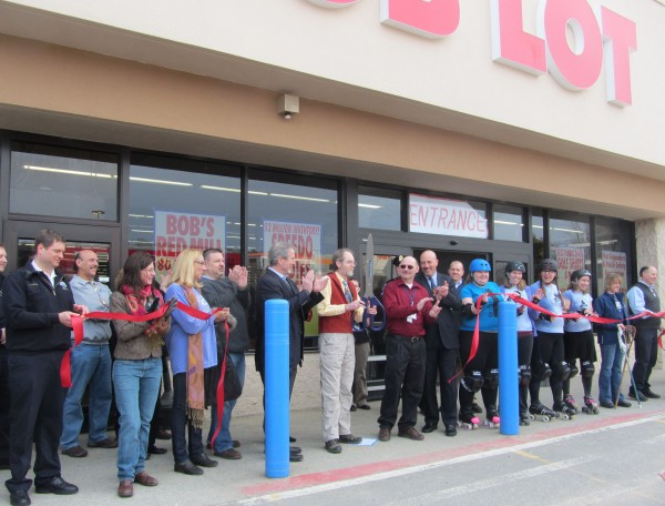 City, state and Ocean State Job Lot officials participated Saturday morning in a grand opening ceremony for the retail store in Rockland.