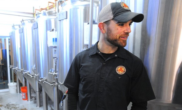 Andrew Geaghan co-owner and brewer at Geaghan Brothers Brewing Co. said that the company gives the spent grains from the brewery to a local farmer for free.