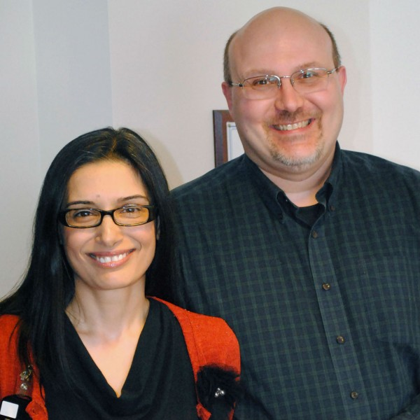 Dr. Dilek Avci and Ken Rautiola