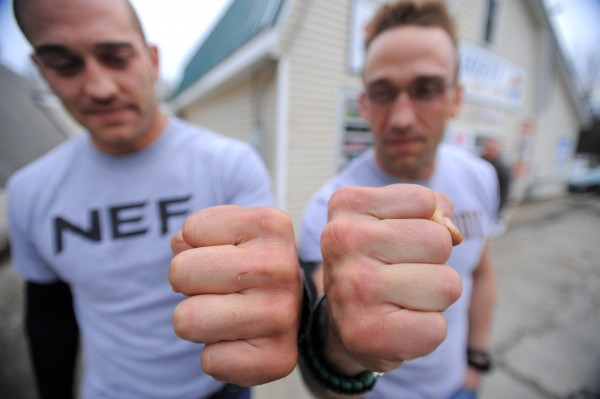 Brothers Jeremy (left) and Jarrod Tyler both work in Winterport and train at Team Irish MMA Fitness Academy in Brewer.