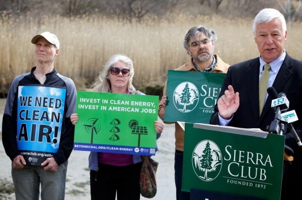 On Earth Day, Michaud takes digs at LePage's environmental, energy record (4/22/14)