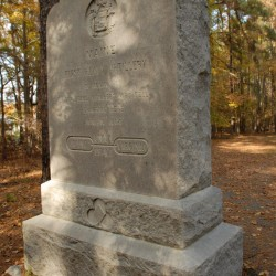Long after the Civil War ended, survivors of the 1st Maine Heavy Artillery Regiment erected a monument on the Petersburg, Va. battlefield. The monument honors the regiment's members who fell during a June 18, 1864 charge against the Confederate lines.
