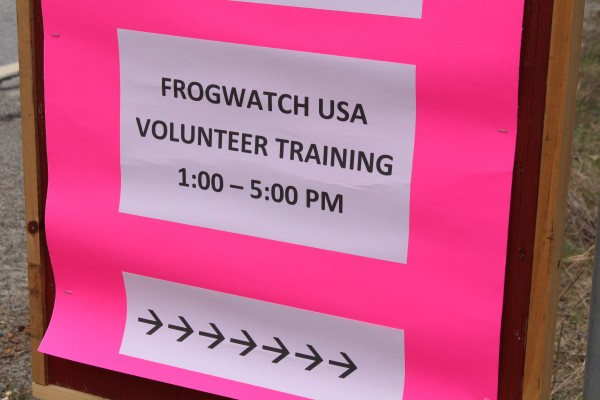 Nine people attended the FrogWatch USA volunteer frog monitor training on April 26 at Hirundo Wildlife Refuge in Alton.