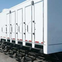 The mobile shower unit under construction for New England Mobile Showers will resemble this one.