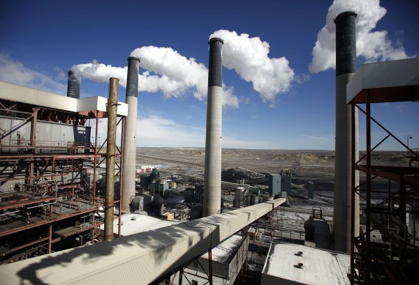 Steam rises from the stacks of the coal-fired Jim Bridger Power Plant outside Point of the Rocks, Wyoming, in this March 2014 file photo.
