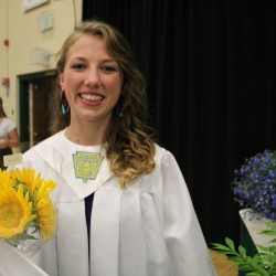 Riley Heist, the class secretary and student council president at Mount Desert High School, was one of the students who pushed for a change in the way students are recognized on their diploma last year.