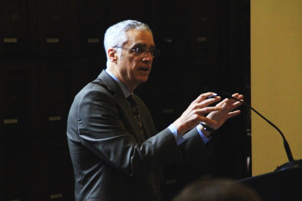 Bob Perciasepe, deputy administrator of the U.S. Environmental Protection Agency, spoke to an audience of business owners and environmentalists Friday morning.