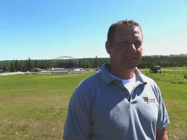 Rob Worcester, vice president of Worcester Wreath Co., says the number of concerts to be held at the Balsam Valley Amphitheater in the future will depend on how well initial events are received.