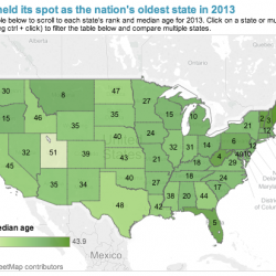 The Northeast is getting older, and those states are feeling the squeeze