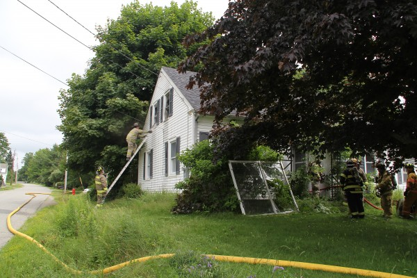 The Rockland Fire Department responded as mutual aid to Rockport for a structure fire at 10:45 a.m. Friday.