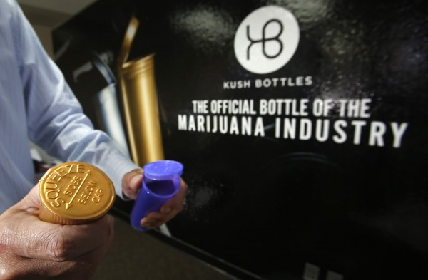 Ben Wu is CEO of Kush Bottles in Santa Ana, Calif., which provides child-resistant plastic containers designed to hold marijuana. With the number of states approving use of medical marijuana going up Wu's business is increasing as well.