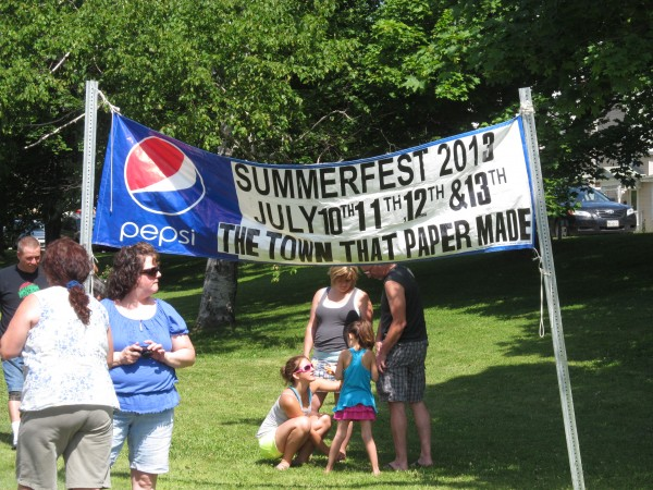 A banner for East Millinocket's Summerfest proclaimed Saturday that it's &quotThe town that paper made,&quot though with the decline and closure of two paper mills in the Katahdin region in recent years, it's becoming the town that paper left behind.