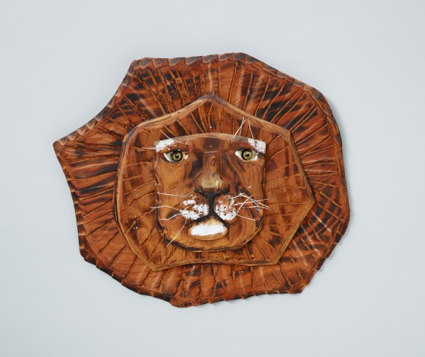 &quotLion's Head,&quot by Bernard Langlais, is on display at Colby College Museum of Art as part of a retrospective of the Maine's artist work.