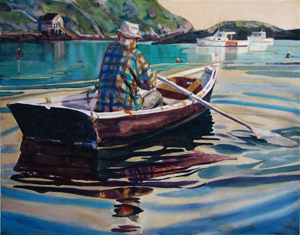 The work of Michael E. Vermette, Monhegan Artists Residency Fellow is on display at the Thos. Moser Freeport showroom and gallery through Oct. 14, 2014, during the Monhegan Artists' Residency 25th Anniversary Exhibition.