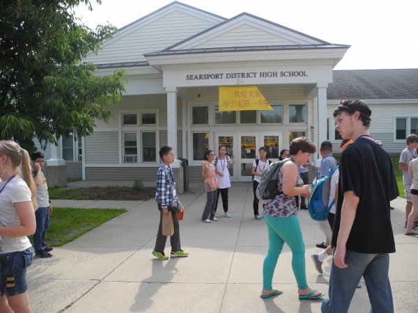 Students from Haining No. 1 Middle School in Zheyiang, China, are spending a few days in midcoast Maine. School officials hope it is the beginning of a long relationship between the two schools.