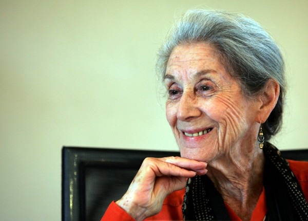Nobel Prize for literature laureate Nadine Gordimer attends a memorial for Nelson Mandela's biographer and former Drum editor late Anthony Sampson in Johannesburg in this February 2005 file photo.