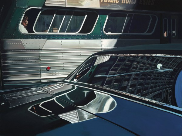 &quotBus with Reflection of the Flatiron,&quot by Richard Estes, is part of the Richard Estes' Realism show at the Portland Museum of Art.