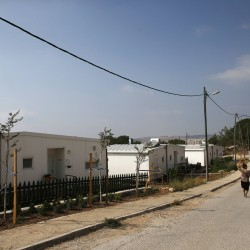 "Israeli women walk in a Jewish settlement known as ""Gevaot"", in the Etzion settlement bloc, near Bethlehem on Aug. 31, 2014."