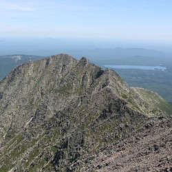 A teen fell and injured himself while hiking Saturday on Katahdin's Knife Edge Trail.