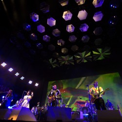 Arcade Fire plays during their concert at the Darling's Waterfront Pavilion in Bangor in this August 2014 file photo.