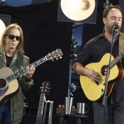 "Tim Reynolds (left) and Dave Matthews perform ""Two Step"" at the Darling's Waterfront Pavilion in Bangor in this June 2014 file photo."